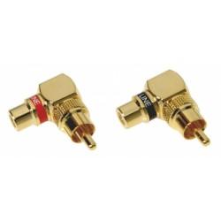DLS RCA vinklad kontakt